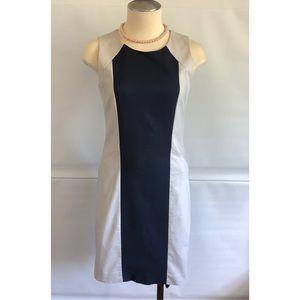 DKNY Fitted Dress khaki Navy blue Size:0